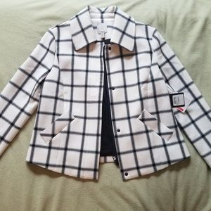 NEW Women's XS black plaid professional jacket